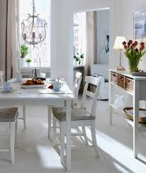 Impressive Small Apartment Dining Room Ideas 8 Artistic Ikea Decoration Using White Wood Chair Including Rectangular
