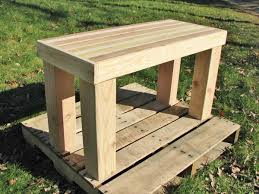 diy pallet wood bench side table 101 pallets