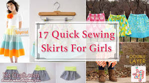 17 quick tutorials of sewing skirts for girls k4 craft