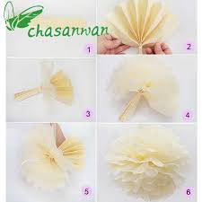 DIY Party Decoration Tissue Pom 20cm 10pcs Paper Flowers Ball Wedding Home Birthday Supplies