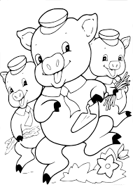 Coloriage Les Trois Petits Cochons À Imprimer Tout Dessin Cochon A