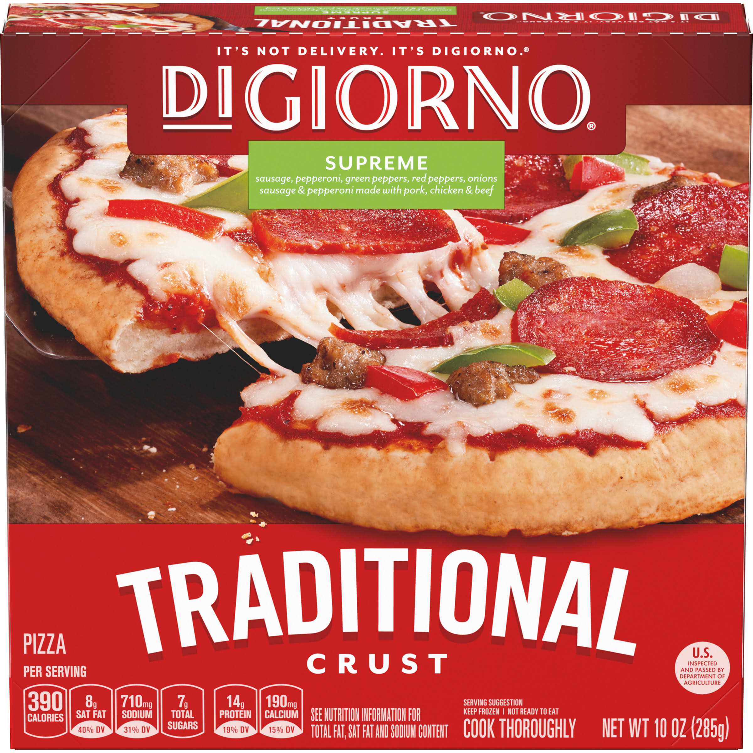 "DiGiorno Traditional Crust - Supreme Pizza, 6.5"", 10oz"