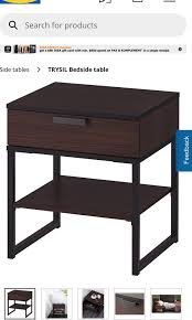 Ikea Bedside Table, Furniture, Tables & Chairs On Carousell