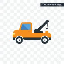 100 Tow Truck Vector Icon Isolated On Transparent Background