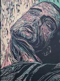 This Artwork Was Printed From 3 Separate Woodblocks Each Individual Color Layer Hand Drawn