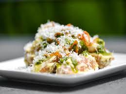 Fingerling Potato Salad With Aioli Pesto Fried Shallots And Pecorino Recipe