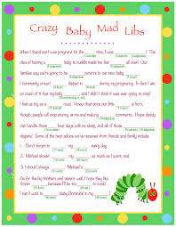 Halloween Mad Libs Pdf by Personalized Crazy Baby Mad Libs For Digital Download