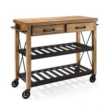 Kitchen Islands Work Island Rolling Table Metal Cart On Wheels Portable