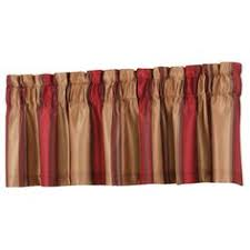 allen roth alison 84 in l striped red rod pocket window curtain