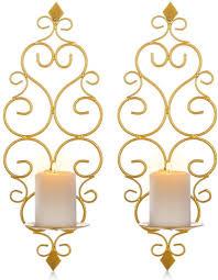 schmiedeeiserne wanddekoration stereometrischer kerzenleuchter beleuchtung dekoration für wohnzimmer esszimmer bar gold