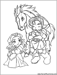 The Legend Of Zelda Coloring Pages