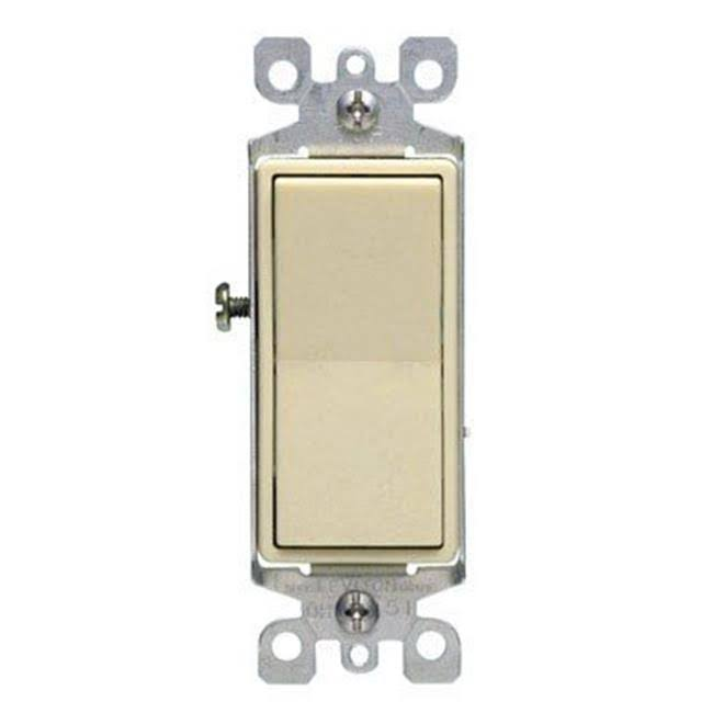 Leviton 5611-2IS Lighted Decora Rocker Single Pole Switch - Ivory