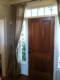Front Door Sidelight Curtain Rods by Front Door With Sidelight Curtains Featured Rods Decor
