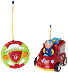 Amazon.com: Cartoon Remote Control (R/C) Fire Engine For Kids And ...