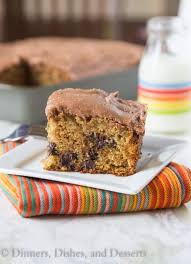 Chocolate Chip Zucchini Cake a tender and moist zucchini cake with lots of chocolate chips