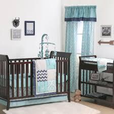 The Peanut Shell 4 Piece Baby Crib Bedding Set Turquoise Gray