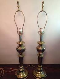 handsome pair of stiffel solid brass 3 way ls with shades