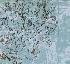Stylish Vintage Floral Background Hand Drawn Flower
