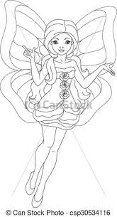 Fairy Butterfly Coloring Page