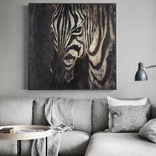 großhandel moderne abstrakte kunst zebra ölgemälde auf leinwand poster und drucke wall bilder wohnzimmer wohnkultur no frame xu793737893 3 93