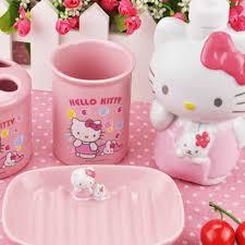 Cute Girly Bathroom Sets by Kitty Bathroom Set 2 Jpg