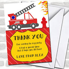 100 Fire Truck Birthday Party Invitations Engine Childrens Thank You Cards EBay