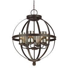 sea gull lighting 3110406 715 sfera 6 light 1 tier chandelier in