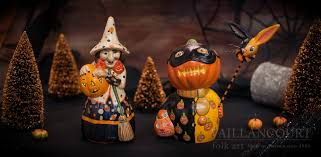 The Vaillancourt Chalkware Witch And Pumpkin Man Now Back In Stock For Halloween