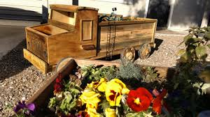 Truck Flower Bed On Wheels