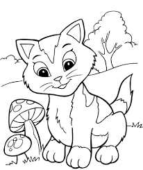 Christmas Coloring Pages Kitten Free Luxury Sheet
