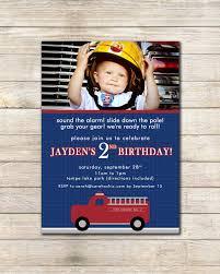 Vintage Firetruck Birthday Party Invitation -- Sarah O Chic ...