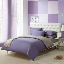 Simply Shabby Chic Bedding by Violet Purple And Gray Solid Pure Color Simply Shabby Chic Full