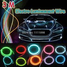 neon pour voiture exterieur 3 m lot neon light el electro luminescent fils avec