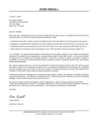 Sample Executive Cover Letters Awesome Collection Of Letter For Financial On Good Senior