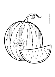 Watermelon Fruits Coloring Pages For Kids Printable Free
