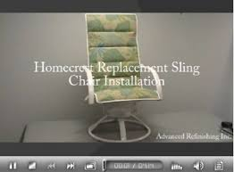 Replacement Slings For Patio Chairs Dallas Tx by How To Repairs For Your Patio Chairs Click The Link Below To