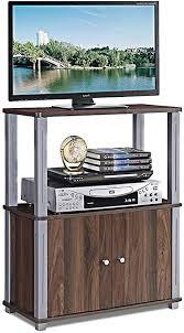 costway fernsehtisch tv möbel regal tisch schrank fernsehschrank sideboard für schlafzimmer wohnzimmer dunkelbraun