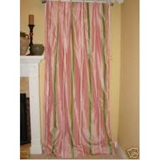 Green Striped Curtain Panels by Green Stripe Silk Drapery Panels Drapes Curtains