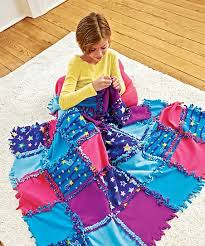 HearthSong Starry Sky Knot A Quilt No Sew Craft Kit