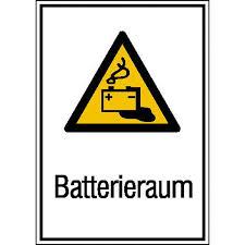 panneau de chambre panneau de danger combiné chambre de batterie