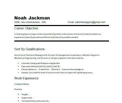 Simple Resume Objective Career Goals Example For Resumes Basic Objectives Examples Customer Service Finance Field Elemental