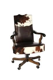 Western Style Office Furniture Country Regarding Cowhide Chair