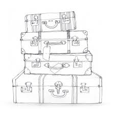 Image Result For Black And White Suitcase Clipart