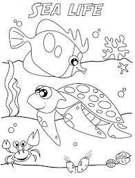Download Coloring Pages Ocean Animals Life Pictures Printable Line