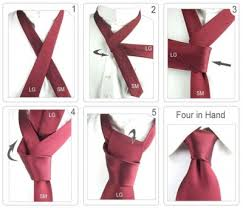 More DIY Ideas How To Tie A Four In Hand Knot Step