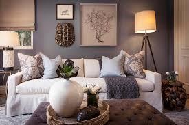 White And Slate Blue Living Room