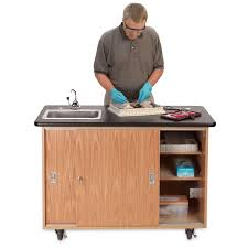Mobile Self Contained Portable Electric Sink by Science Lab Furniture Mobile Lab Tables Nasco
