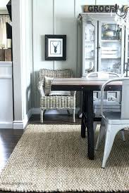 Size Of Dining Room Rug Rugs For Table
