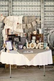 Rustic Wedding Entrance Table Settings
