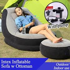 Intex Inflatable Sofa With Footrest by Intex Inflatable Sofa With Footrest Shopee Singapore
